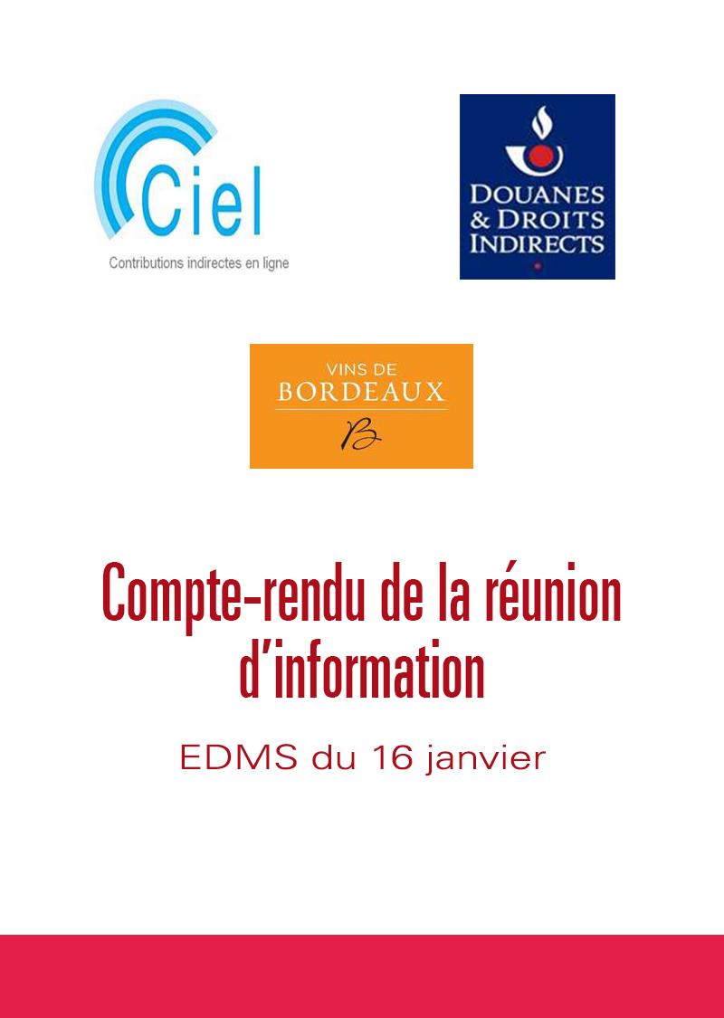 EDMS : réunion d'information