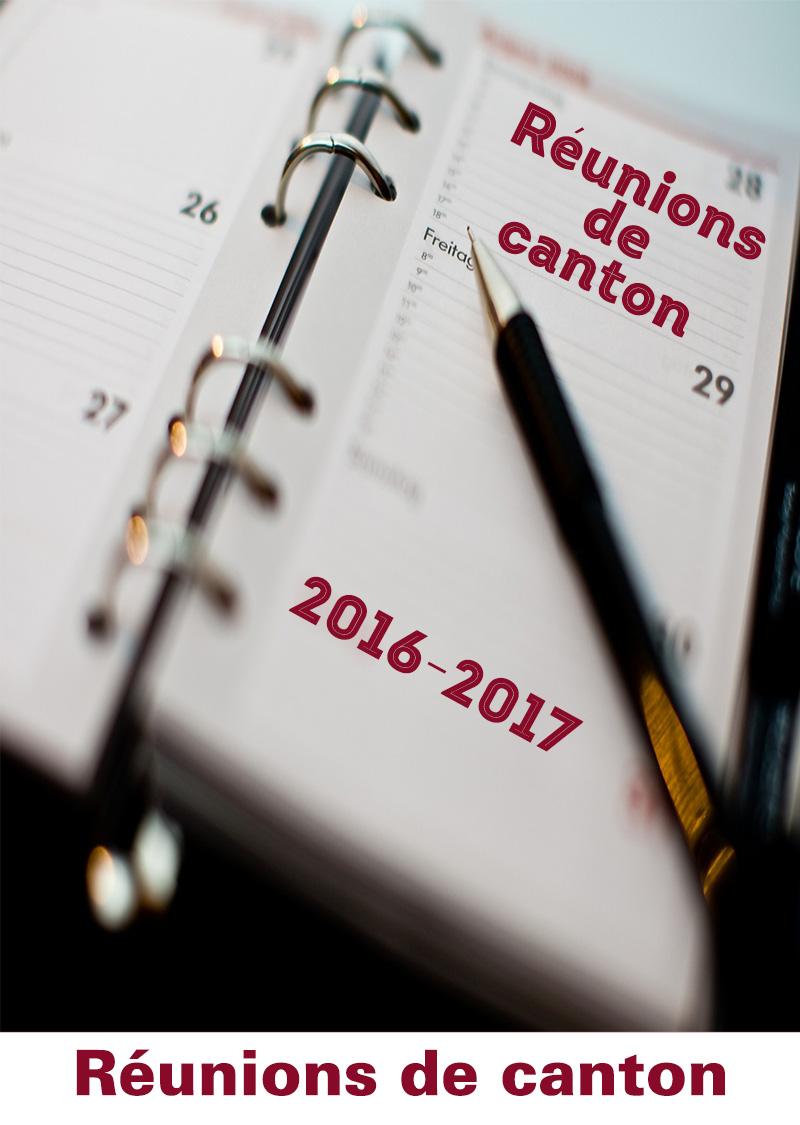 Réunions de Canton 2016-2017