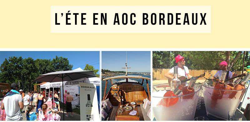 L'été 2019 avec les AOC Bordeaux