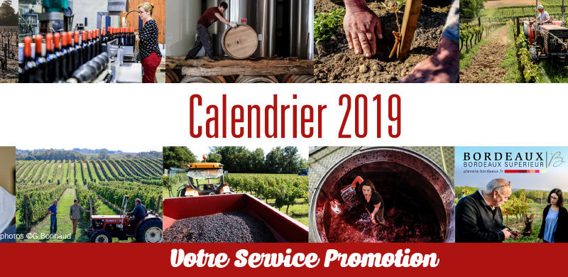 Le calendrier promotion 2019