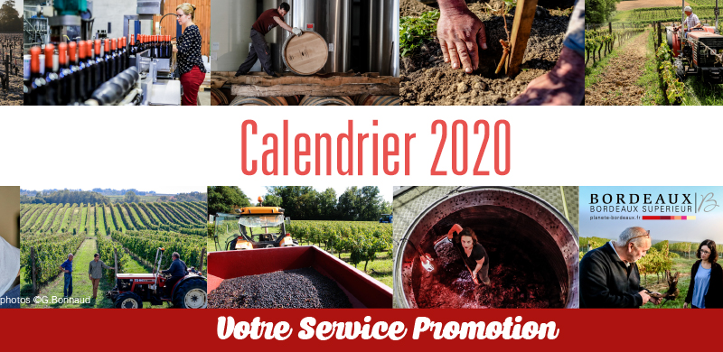Le calendrier promotion 2020