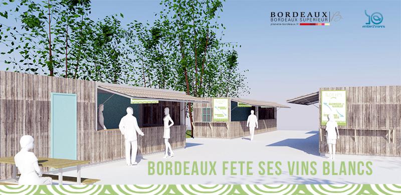 Bordeaux fête ses vins blancs du 20 au 23 juin pendant la Fête du Fleuve sur les quais de la ville de Bordeaux