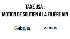 Taxe USA : motion de soutien à la filière vin
