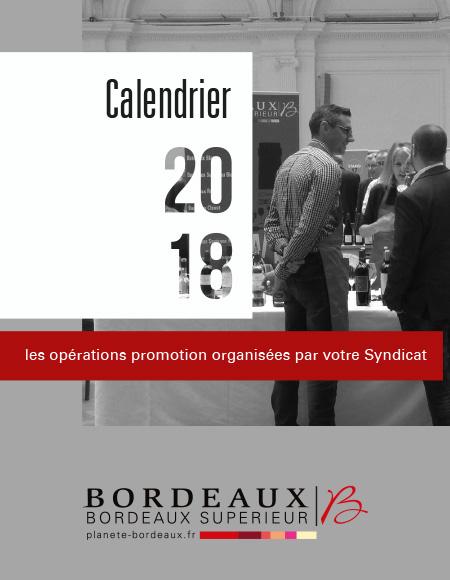 Le calendrier promotion 2018
